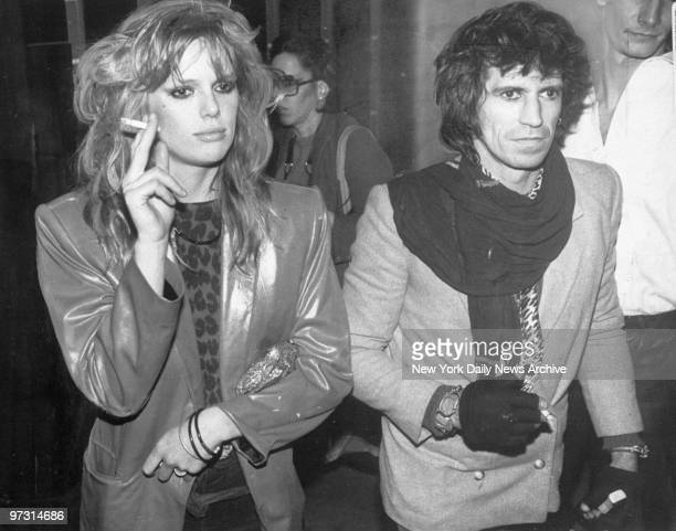 Patti Hansen and husband Keith Richards