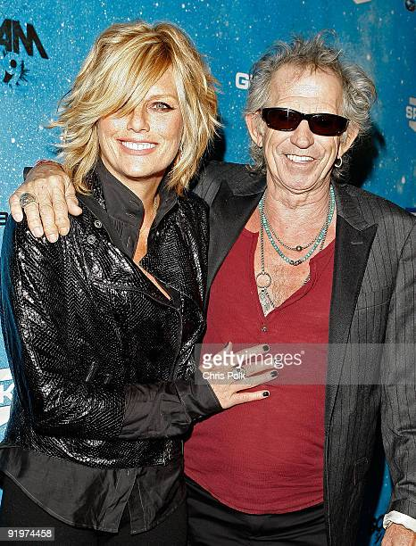 Patti Hansen and musician Keith Richards arrive at Spike TV's Scream 2009 held at the Greek Theatre on October 17 2009 in Los Angeles California