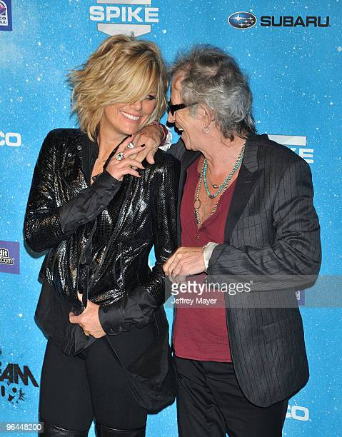 Patti Hansen and musician Keith Richards arrive at the Spike TV's 'SCREAM 2009' Awards at The Greek Theatre on October 17 2009 in Los Angeles...