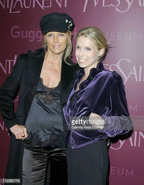 Patti Hansen and Theodora Richards wearing Yves Saint Laurent