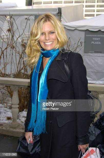 Patti Hansen during Olympus Fashion Week Fall 2005 The Heart Truth Red Dress Collection Fashion Show Departures at Olympus Fashion Week at Bryant...