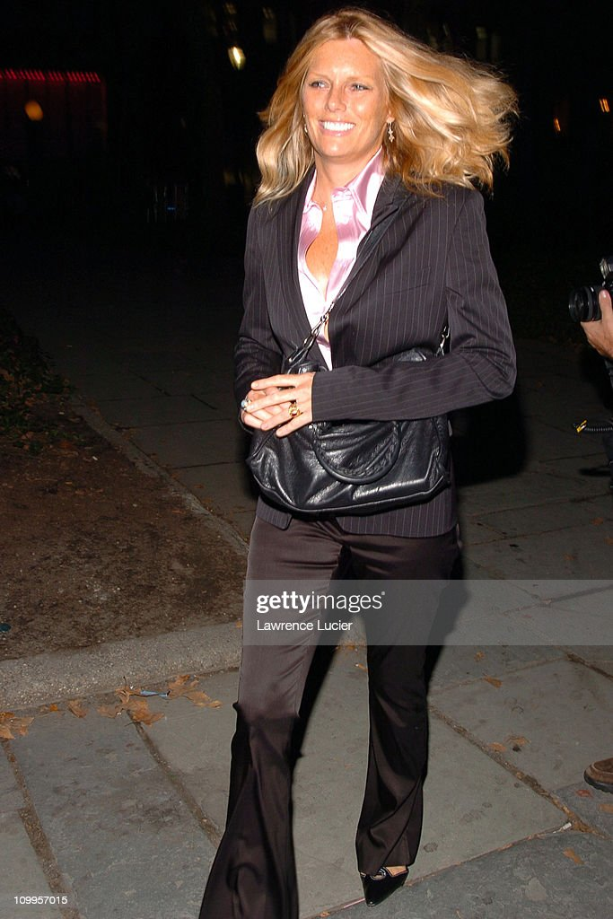 Patti Hansen during Olympus Fashion Week Spring 2005 - Luca Luca - Front Row and Backstage at Theater Tent, Bryant Park in New York City, New York, United States.