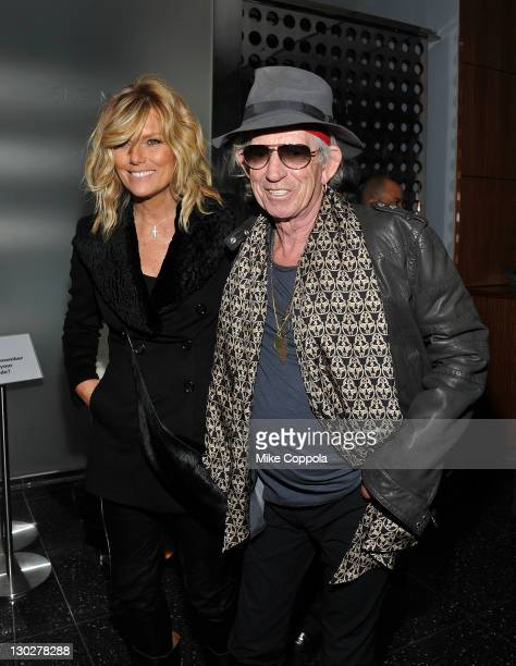 Patti Hansen husband/musician Keith Richards attend the 'The Rum Diary' New York premiere at the Museum of Modern Art on October 25 2011 in New York...
