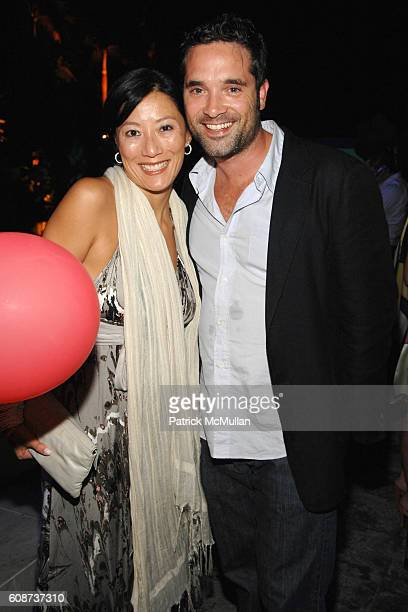 Patti Kim and Morgan Wandell attend VANITY FAIR BANANA REPUBLIC Art Basel Party at The Shore Club on December 7 2007 in Miami Beach FL