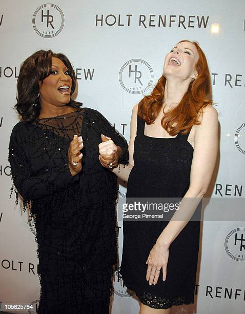 Patti LaBelle and Marcia Cross during Holt Renfrew Launch Party in Vancouver at Pacific Centre Holt Renfrew Store in Vancouver British Columbia Canada