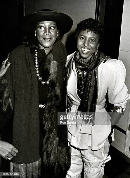 Patti LaBelle and Nona Hendryx during 'One to One' Telethon Hosted by John Johnson at Studio 54 in New York City New York United States