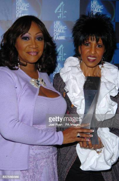 Patti Labelle and Nona Hendryx with the UK Music Hall of Fame 2006 induction award in Alexandra Palace London