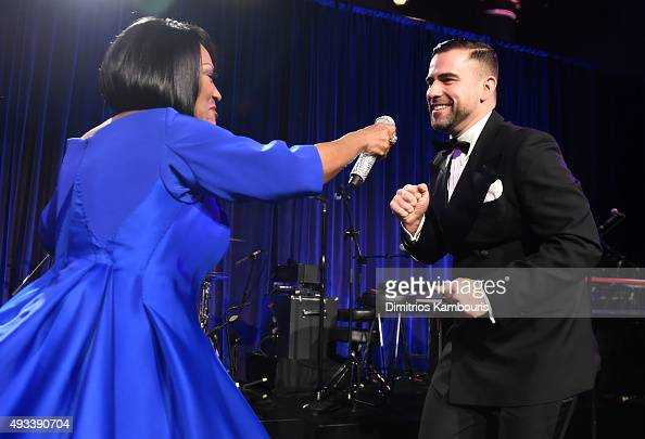 Patti LaBelle and Rubin Singer perform during Angel Ball 2015 hosted by Gabrielle's Angel Foundation at Cipriani Wall Street on October 19 2015 in...