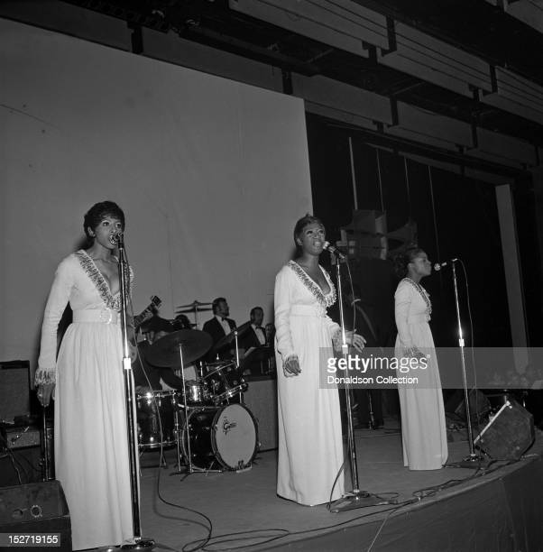 Patti LaBelle and the Bluebelles perform at the Felt Forum on December 5 1969 in New York City New York