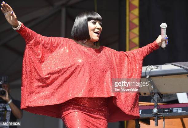 Patti LaBelle performs during the 2017 New Orleans Jazz Heritage Festival at Fair Grounds Race Course on May 7 2017 in New Orleans Louisiana