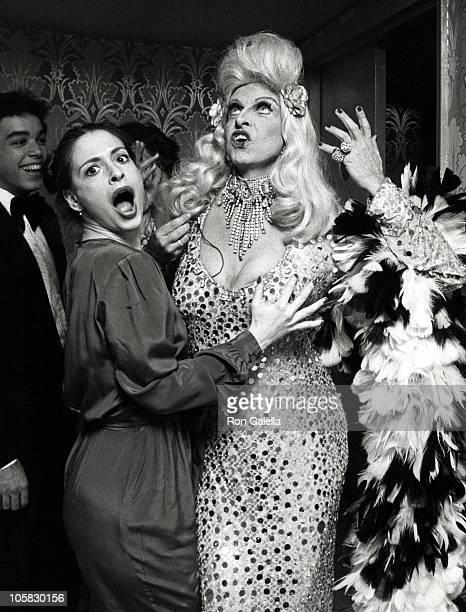 Patti LuPone and Charles Pierce during Manhattan Theater Club June 2 1980 at Waldorf Astoria Hotel in New York City New York United States
