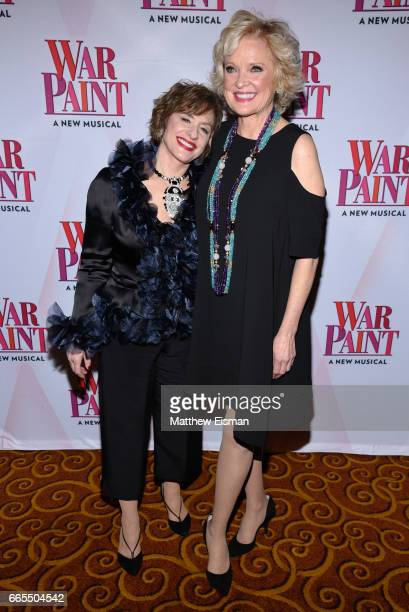 Patti LuPone and Christine Ebersole attend the 'War Paint' Broadway opening night after party at Gotham Hall on April 6 2017 in New York City