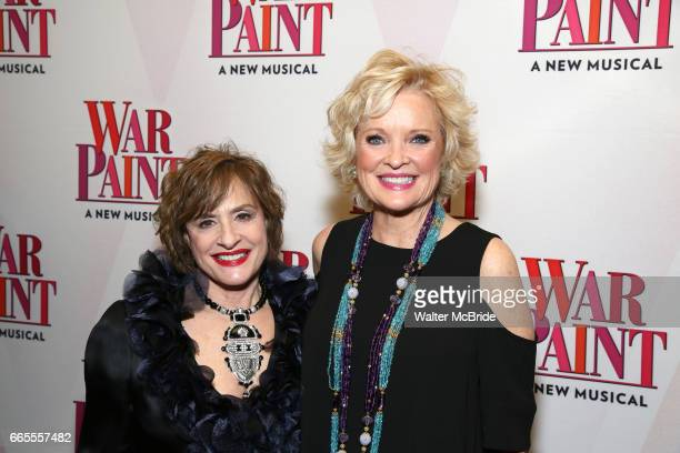 Patti LuPone and Christine Ebersole attends the Broadway opening night after party for 'War Paint' at Gotham Hall on April 6 2017 in New York City