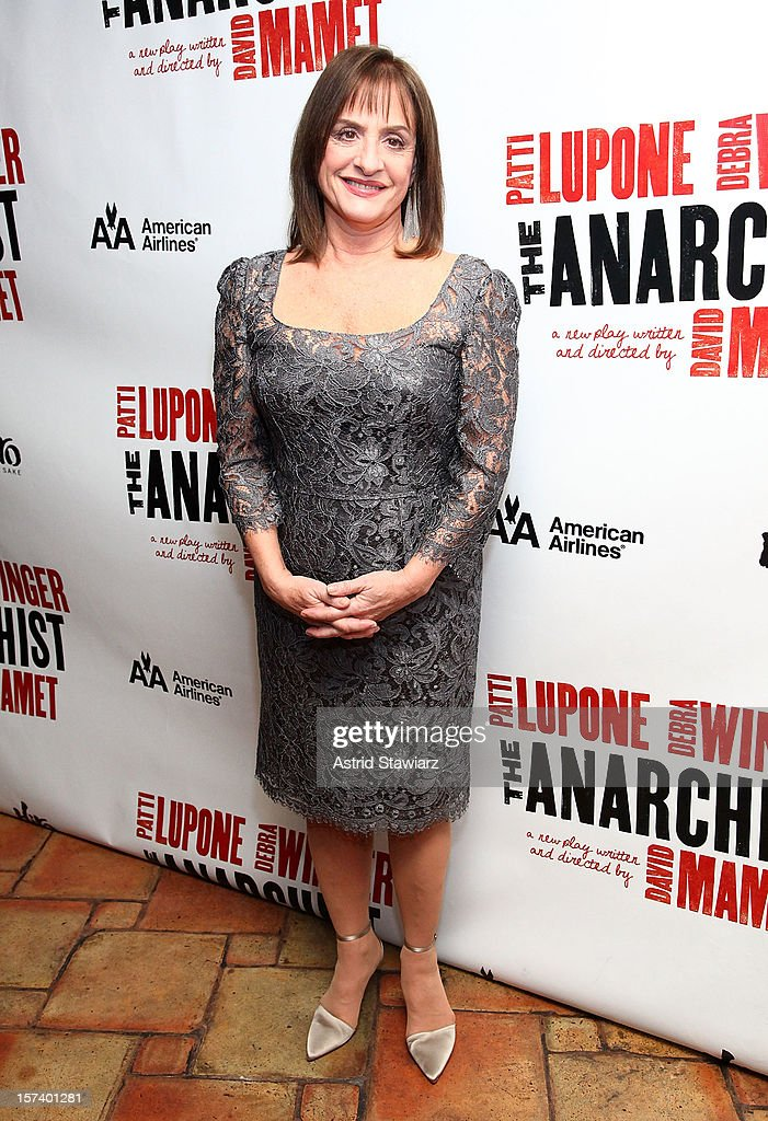 Patti LuPone attends 'The Anarchist' Broadway Opening Night After Party at The Red Eye Grill on December 2, 2012 in New York City.