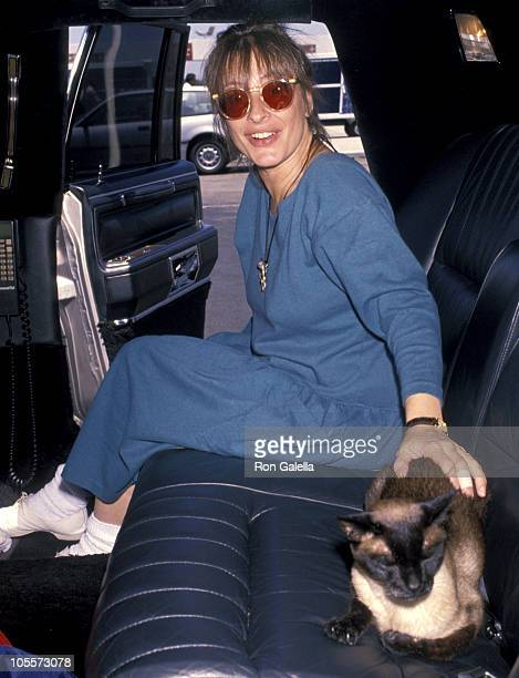 Patti LuPone during Patti LuPone Arriving from New York City at LAX July 4 1990 at Los Angeles International Airport in Los Angeles California United...