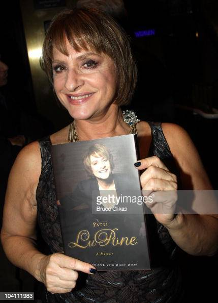 Patti LuPone poses at the 'Patti LuPone A Memoir' Book Launch Party at Vivian Beaumont Theatre at Lincoln Center on September 14 2010 in New York City