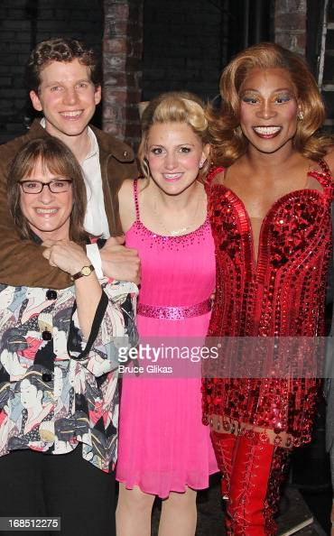 Patti LuPone Stark Sands as 'Charlie' Annaleigh Ashford and Billy Porter as 'Lola' Matthew Morrison and Cyndi Lauper pose backstage at the hit...