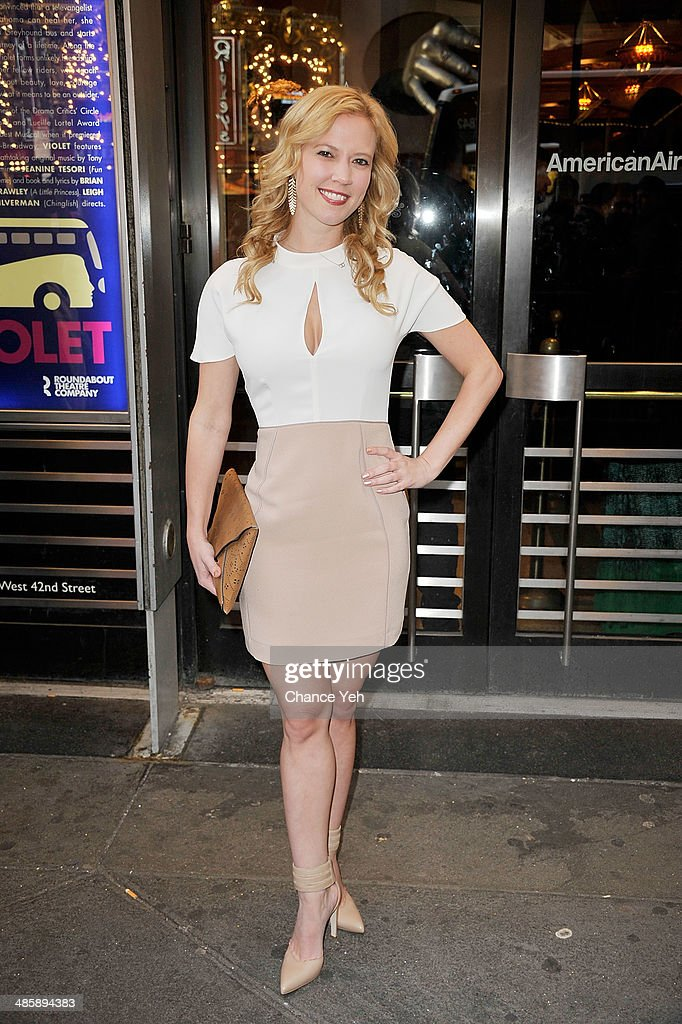 <a gi-track='captionPersonalityLinkClicked' href=/galleries/search?phrase=Patti+Murin&family=editorial&specificpeople=5399533 ng-click='$event.stopPropagation()'>Patti Murin</a> attends the 'Violet' Opening Night at American Airlines Theatre on April 20, 2014 in New York City.