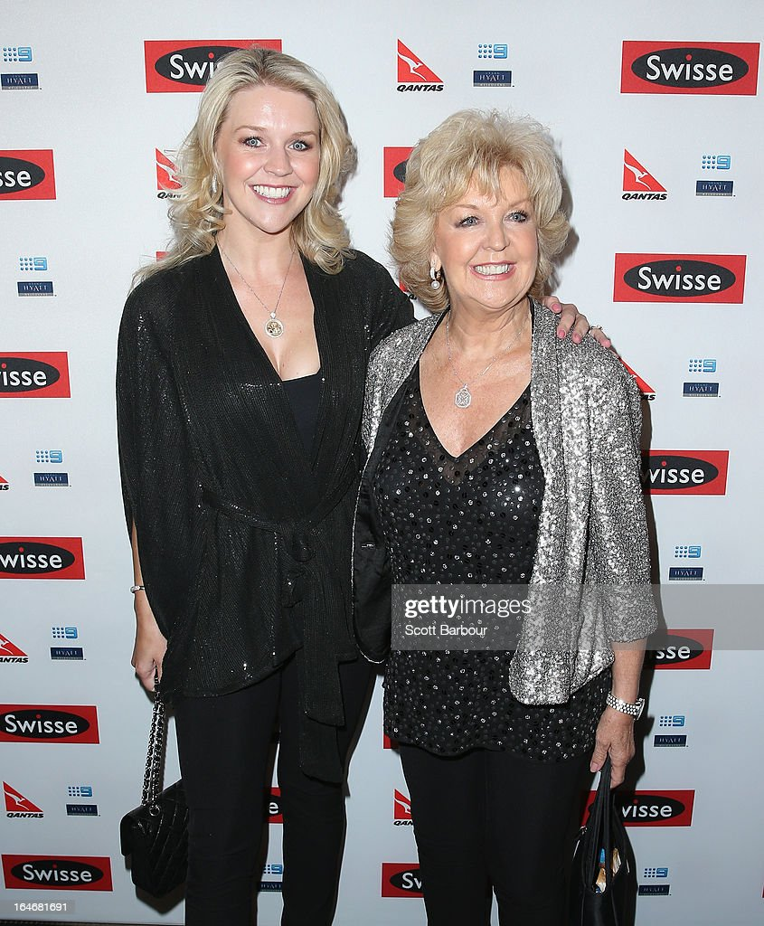 Patti Newton and <a gi-track='captionPersonalityLinkClicked' href=/galleries/search?phrase=Lauren+Newton&family=editorial&specificpeople=206832 ng-click='$event.stopPropagation()'>Lauren Newton</a> arrive at a Ellen DeGeneres Welcome Party on March 26, 2013 in Melbourne, Australia. Ellen DeGeneres is in Australia to film segments for her TV show, 'Ellen'.