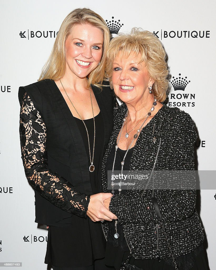 Patti Newton and <a gi-track='captionPersonalityLinkClicked' href=/galleries/search?phrase=Lauren+Newton&family=editorial&specificpeople=206832 ng-click='$event.stopPropagation()'>Lauren Newton</a> arrive at Crown's Celebrity Mother's Day Luncheon at Crown on May 9, 2014 in Melbourne, Australia.