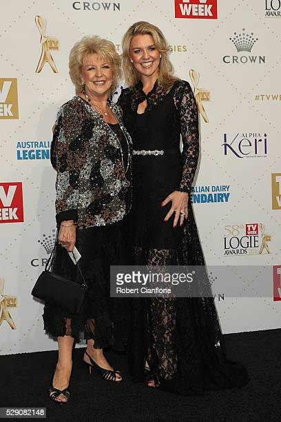 Patti Newton and Lauren Newton arrive at the 58th Annual Logie Awards at Crown Palladium on May 8 2016 in Melbourne Australia