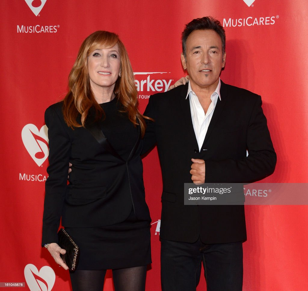 Patti Scialfa and Bruce Springsteen attend the 2013 MusiCares Person Of The Year Gala Honoring Bruce Springsteen at Los Angeles Convention Center on February 8, 2013 in Los Angeles, California.