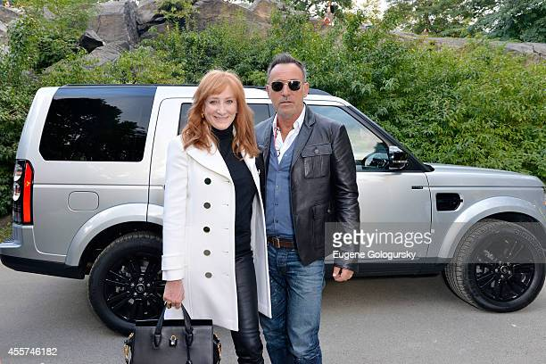 Patti Scialfa and Bruce Springsteen attend the Central Park Horse Show presented by Rolex and produced by Chronicle of the Horse where Land Rover was...