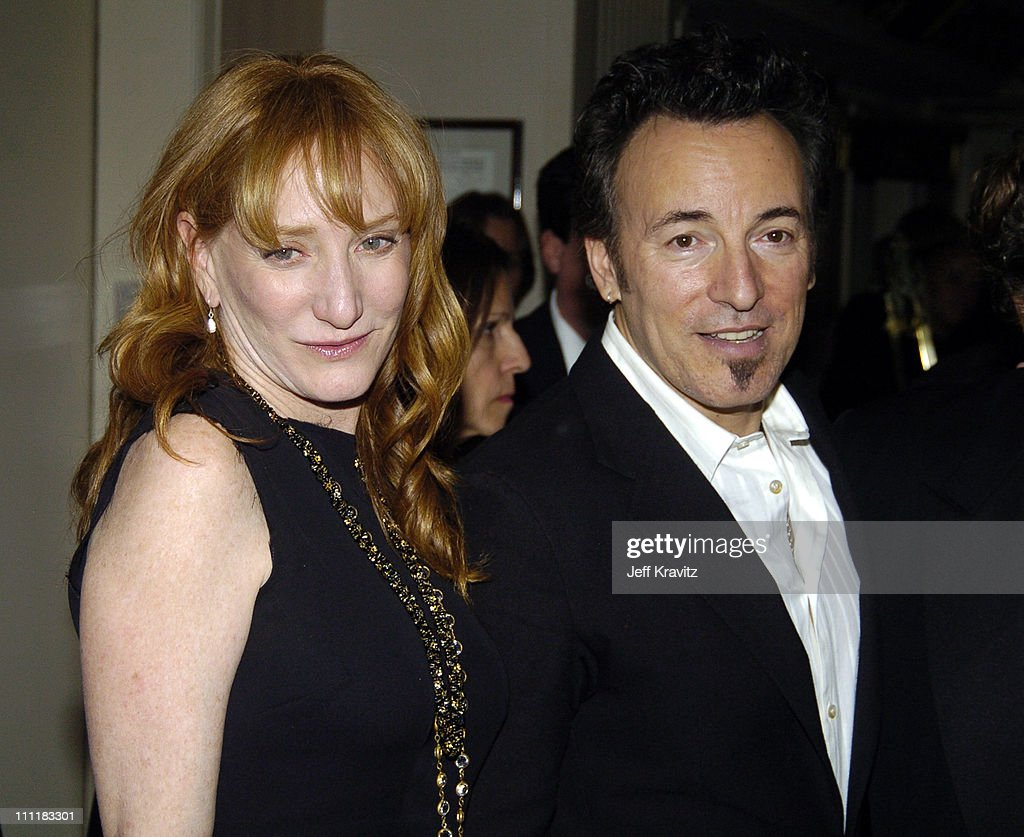 Patti Scialfa and Bruce Springsteen during 20th Annual Rock and Roll Hall of Fame Induction Ceremony - Audience and Backstage at Waldorf Astoria Hotel in New York City, New York, United States.