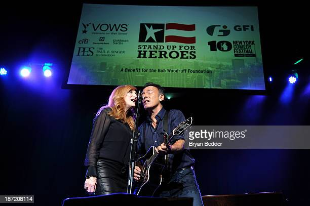 Patti Scialfa and Bruce Springsteen performs at The New York Comedy Festival And The Bob Woodruff Foundation Present The 7th Annual Stand Up For...