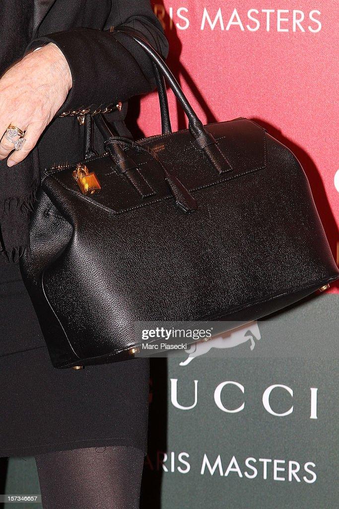 Patti Scialfa (handbag detail) attends the 'Gucci Paris Masters 2012' at Paris Nord Villepinte on December 2, 2012 in Paris, France.