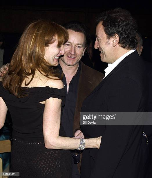 Patti Scialfa Bono and Bruce Springsteen during 15th Annual NordoffRobbins Silver Clef Award Dinner and Auction at Roseland Ballroom in New York City...