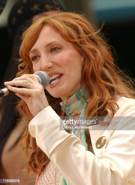 Patti Scialfa during The 'Today' Show's 2004 Summer Concert Series Patti Scialfa at Rockefeller Plaza in New York City New York United States