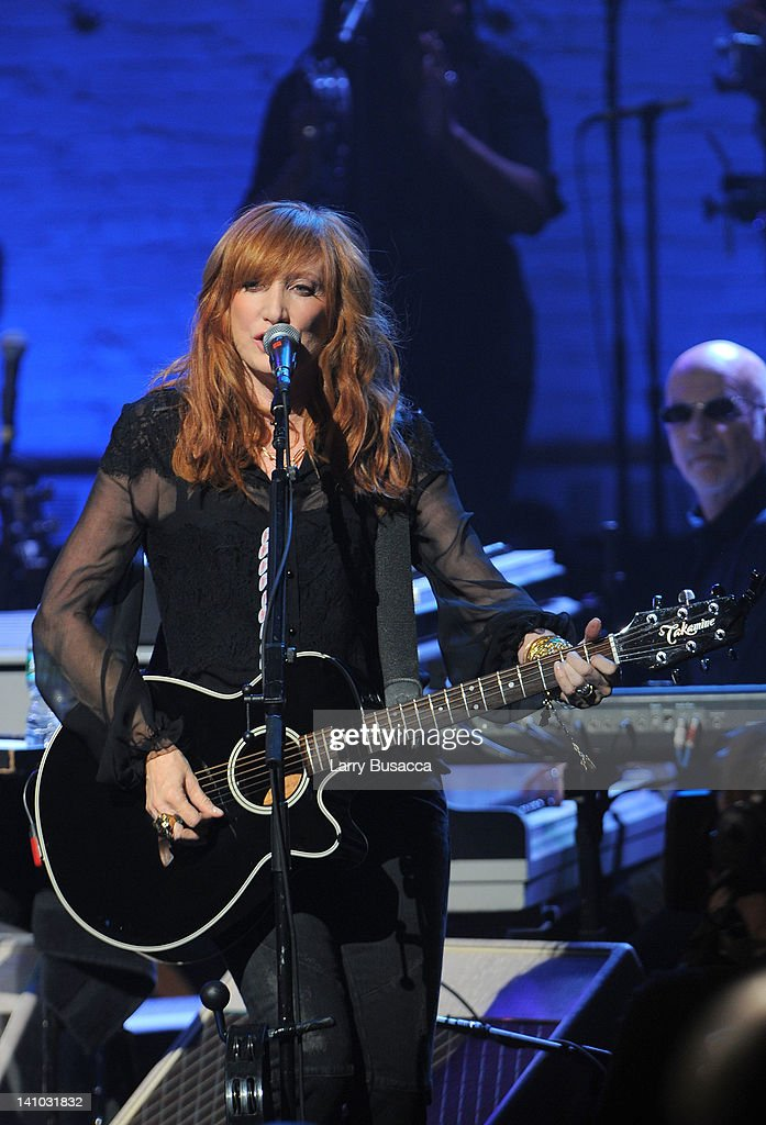 Patti Scialfa performs during SiriusXM's concert celebrating 10 years of satellite radio at The Apollo Theater on March 9 2012 in New York City