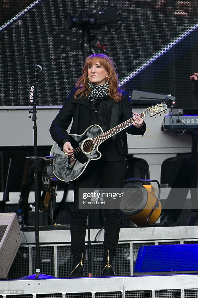 Patti Scialfa performs with the E Street Band at Croke Park Stadium on May 27, 2016 in Dublin, Ireland.