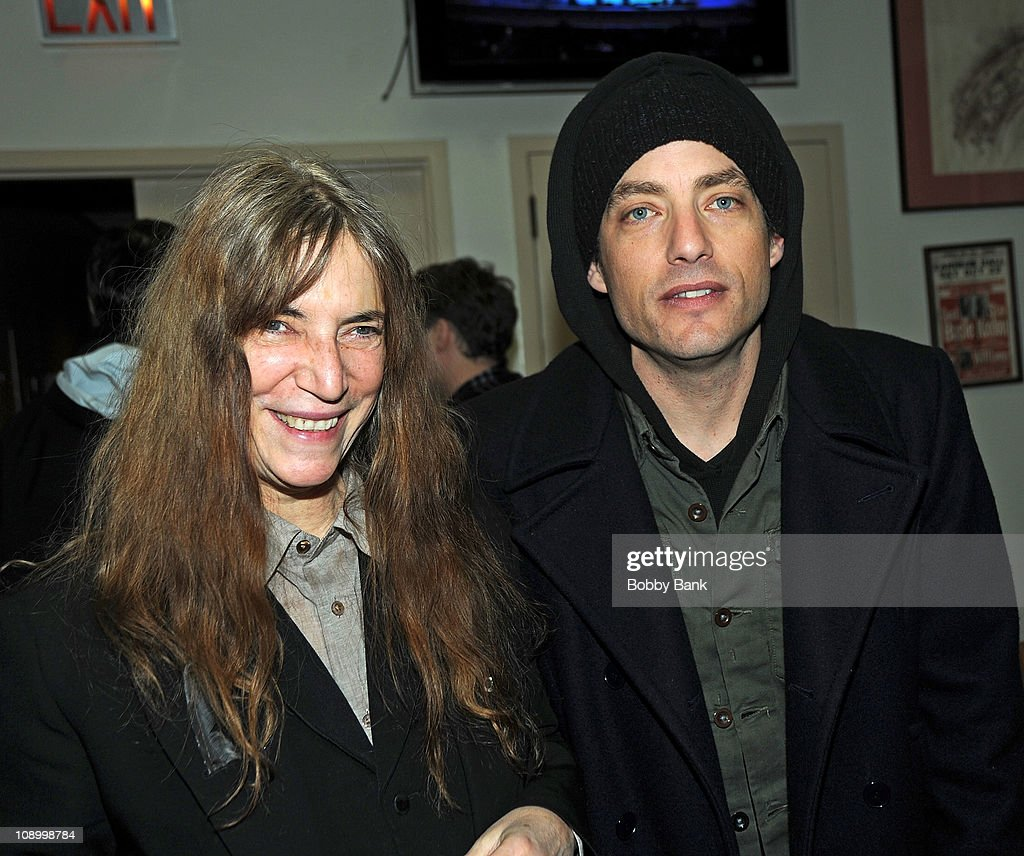 <a gi-track='captionPersonalityLinkClicked' href=/galleries/search?phrase=Patti+Smith+-+Godmother+of+Punk&family=editorial&specificpeople=221285 ng-click='$event.stopPropagation()'>Patti Smith</a> and <a gi-track='captionPersonalityLinkClicked' href=/galleries/search?phrase=Jakob+Dylan&family=editorial&specificpeople=211180 ng-click='$event.stopPropagation()'>Jakob Dylan</a> at rehearsals for The Music of Neil Young at Carnegie Hall on February 10, 2011 in New York City.