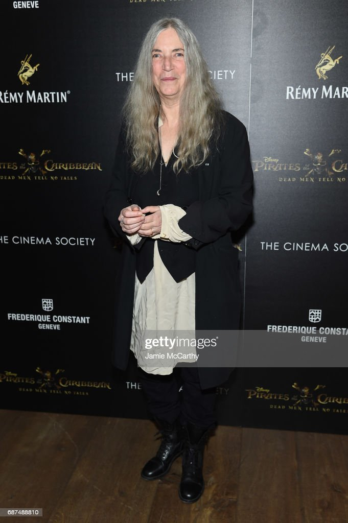 Patti Smith attends a screening of 'Pirates Of The Caribbean: Dead Men Tell No Tales' hosted by The Cinema Society at Crosby Street Hotel on May 23, 2017 in New York City.
