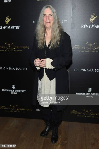 Patti Smith attends a screening of 'Pirates Of The Caribbean Dead Men Tell No Tales' hosted by The Cinema Society at Crosby Street Hotel on May 23...