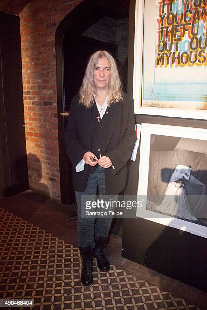 Patti Smith attends the 3rd Annual Turtle Ball at The Bowery Hotel on September 28 2015 in New York City