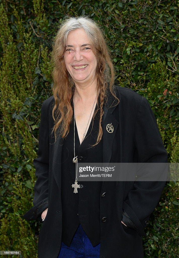 <a gi-track='captionPersonalityLinkClicked' href=/galleries/search?phrase=Patti+Smith+-+Godmother+of+Punk&family=editorial&specificpeople=221285 ng-click='$event.stopPropagation()'>Patti Smith</a> attends the CHANEL Dinner For NRDC 'A Celebration Of Art, Nature And Technology' held at a private residence on May 31, 2013 in Los Angeles, California.