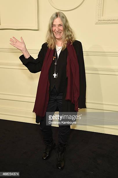Patti Smith attends the CHANEL ParisSalzburg 2014/15 Metiers d'Art Collection at Park Avenue Armory on March 31 2015 in New York City