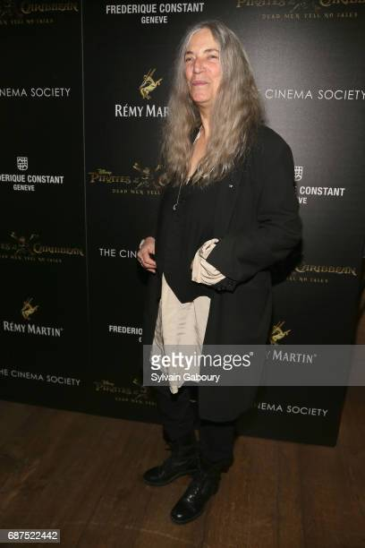 Patti Smith attends The Cinema Society with Remy Martin Frederique Constant host a screening of 'Pirates of the Caribbean Dead Men Tell No Tales' on...