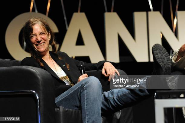 Patti Smith attends the Grey Seminar as part of Cannes Lions 58th International Festival of Creativity at Palais des Festivals on June 24 2011 in...