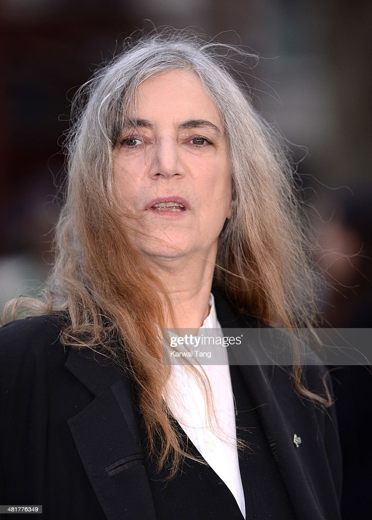 Patti Smith attends the UK premiere of 'Noah' held at the Odeon Leicester Square on March 31, 2014 in London, England.