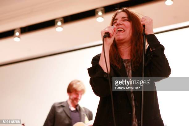 Patti Smith attends TOOLS FOR THOUGHT REBUILD HAITI With Special Performance By PATTI SMITH at Sotheby's on March 15 2010 in New York City