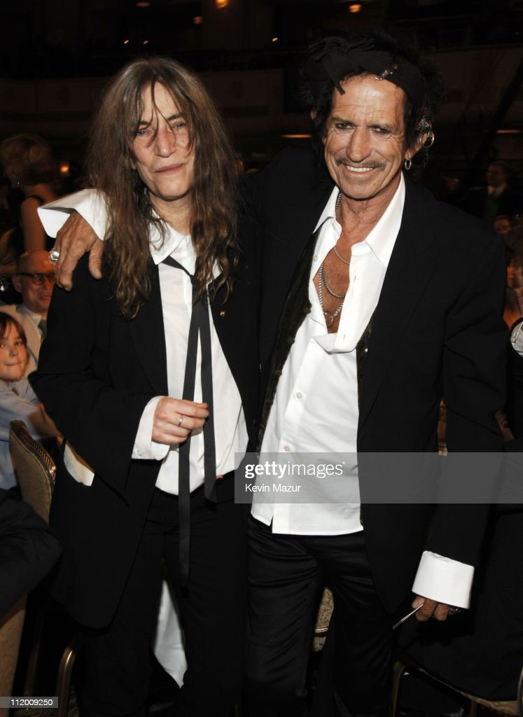 Patti Smith, inductee, and Keith Richards *EXCLUSIVE*