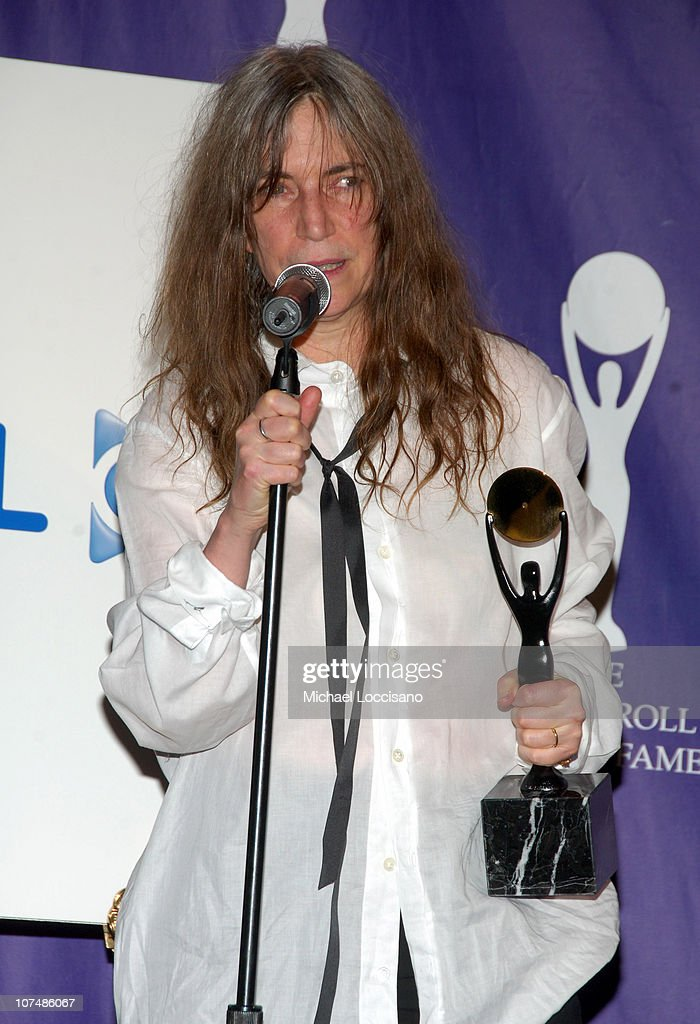 Patti Smith, inductee during 22nd Annual Rock and Roll Hall of Fame Induction Ceremony - Press Room at Waldorf Astoria in New York City, New York, United States.