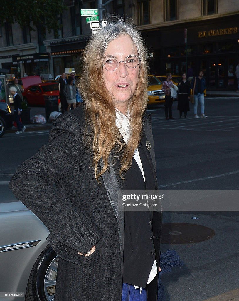<a gi-track='captionPersonalityLinkClicked' href=/galleries/search?phrase=Patti+Smith+-+Patin+des+Punk&family=editorial&specificpeople=221285 ng-click='$event.stopPropagation()'>Patti Smith</a> is seen New York on September 23, 2013 in New York City.