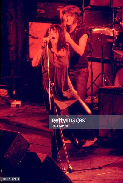 Patti Smith performing at the Aragon Ballroom in Chicago Illinois December 8 1977