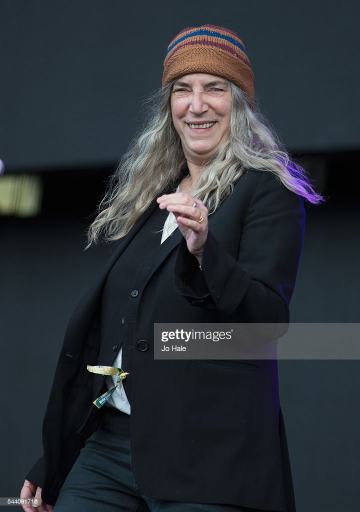 <a gi-track='captionPersonalityLinkClicked' href=/galleries/search?phrase=Patti+Smith+-+Godmother+of+Punk&family=editorial&specificpeople=221285 ng-click='$event.stopPropagation()'>Patti Smith</a> performs as part of Barclaycard Presents British Summer Time Hyde Park Festival : Day 1 at Hyde Park on July 1, 2016 in London, England.
