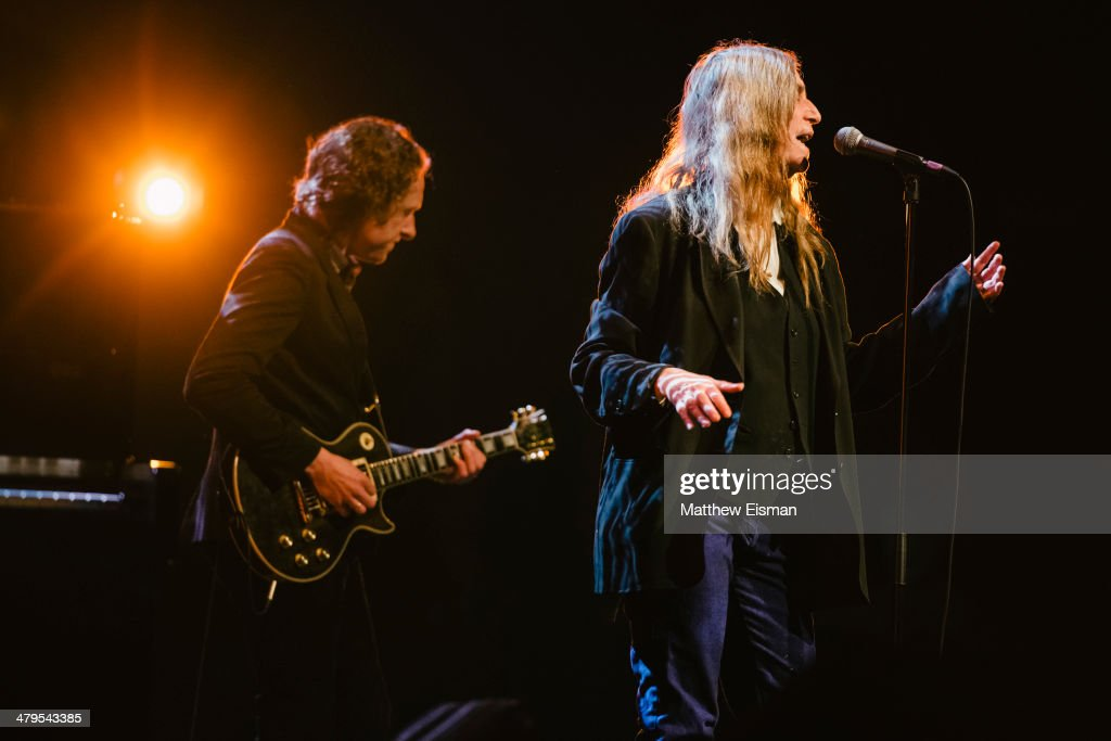 <a gi-track='captionPersonalityLinkClicked' href=/galleries/search?phrase=Patti+Smith+-+Godmother+of+Punk&family=editorial&specificpeople=221285 ng-click='$event.stopPropagation()'>Patti Smith</a> performs at the 'Stopp - Let's Protect the Park' nature benefit concert at Harpa Concert Hall on March 18, 2014 in Reykjavik, Iceland.